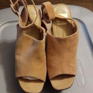 Dolce Vita Tan thick heel platform shoes-7.5M